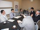 岡山市保健所長と御津医師会の面談